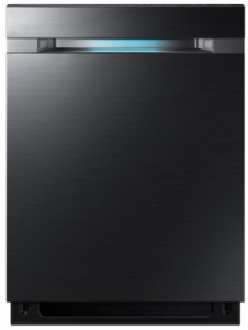 "DW80M9550UG Samsung 24"" Top Control Dishwasher with WaterWall Technology and AutoRelease Door - Black Stainless Steel"