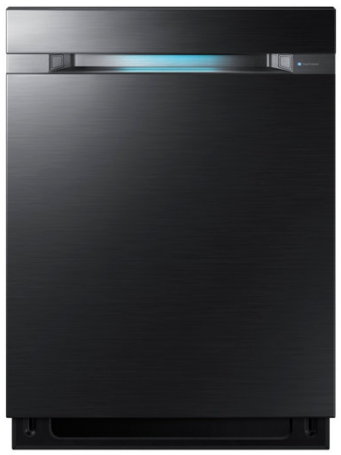 """DW80M9960UG Samsung 24"""" Top Control Dishwasher with Flextray and Virtually Silent Wash Cycles - Black Stainless Steel"""