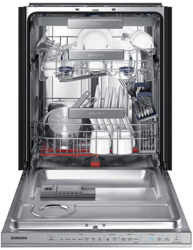 "DW80M9960US Samsung 24"" Top Control Dishwasher with Flextray and Virtually Silent Wash Cycles - Stainless Steel"