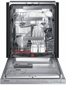 """DW80M9960US Samsung 24"""" Top Control Dishwasher with Flextray and Virtually Silent Wash Cycles - Stainless Steel"""