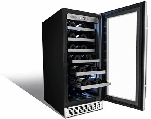 DWC031D1BSSPR Danby Silhouette Professional Series Tuscany 20 Bottle Single Zone Built-In Wine Cellar - Stainless Steel