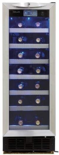 """DWC276BLS Danby Silhouette Pecorino 12"""" Built-in Wine Cooler with Electric LED Screen Displays and LED Lighting - Stainless Steel"""