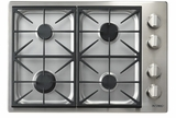 """DYCT304GSNG Dacor 30"""" Discovery Gas Cooktop with 4 Burners and Die Cast Knobs - Natural Gas - Stainless Steel"""