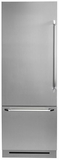 """DYF30BFBSL Dacor 30"""" Fully Integrated Bottom Freezer Refrigerator with Epicure Handle - Left Hinge - Stainless Steel"""