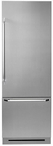 """DYF30BFBSR Dacor 30"""" Fully Integrated Bottom Freezer Refrigerator with Epicure Handle - Right Hinge - Stainless Steel"""