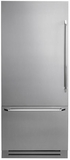 """DYF36BFBSL Dacor 36"""" Fully Integrated Bottom Freezer Refrigerator with Epicure Handle - Left Hinge - Stainless Steel"""