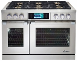 """DYRP48DSNG Dacor Discovery 48"""" Dual Fuel Range - Natural Gas - Stainless Steel"""