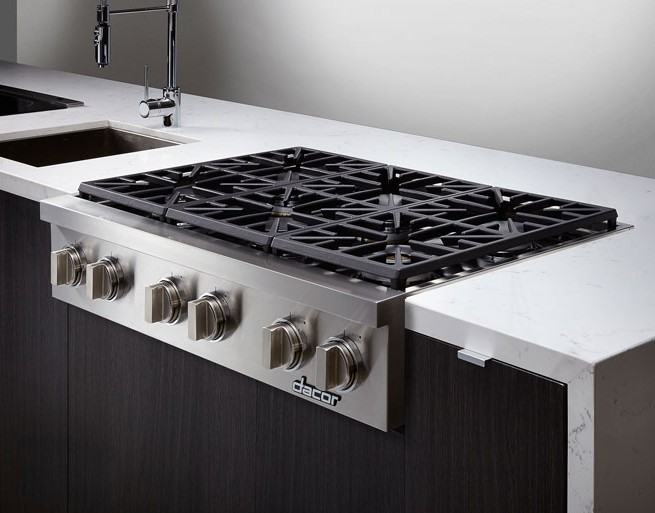 Dyrtp366sng Dacor Discovery 36 Professional Style Gas Rangetop Natural Stainless Steel