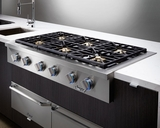 """DYRTP486SLP Dacor Discovery 48"""" Professional Style Gas Rangetop - Liquid Propane - Stainless Steel"""