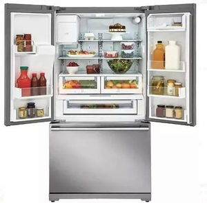 "E23BC79SPS 36"" Electrolux Icon Professional Series Counter Depth French Door Refrigerator with Smooth-Glide Crispers and PureAdvantage Filtration - Stainless Steel"