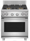 """E30DF74TPS 30"""" Electrolux Icon Professional Series Dual-Fuel Freestanding Range with CustomConvect Technology and Smooth Glide Oven Racks - Stainless Steel"""