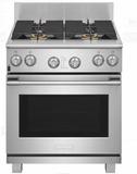"""E30GF74TPS 30"""" Electrolux Icon Professional Series Natural Gas Freestanding Range with CustomConvect Technology and Smooth Glide Oven Racks - Stainless Steel"""