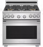 """E36DF76TPS 36"""" Electrolux Icon Professional Series Dual-Fuel Freestanding Range with CustomConvect Technology and Smooth Glide Oven Racks - Stainless Steel"""