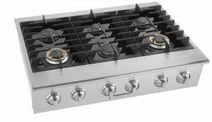 """E36GC76PRS 36"""" Electrolux ICON Gas Slide-In Cooktop with Min-2-Max Burners and Professional-Style Controls - Stainless Steel"""