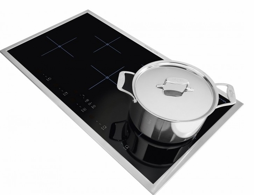 "E36IC80QSS Electrolux Icon Designer Series 36"" Induction Cooktop with Quick Boil - Black with Stainless Steel Trim"