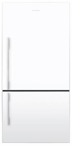 E522BRWFD5N Fisher Paykel ActiveSmart Fridge - 17.6 cu. ft. Counter Depth Bottom Freezer - White