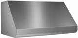"""E60E36SS Broan 36"""" Wall Mount Range Hood with Variable Speed Controls and Pro-Style Dishwasher Safe Baffle Filters - Stainless Steel"""