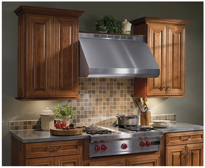 "E60E36SS Broan 36"" Wall Mount Range Hood with Variable Speed Controls and Pro-Style Dishwasher Safe Baffle Filters - Stainless Steel"