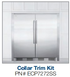 """ECP7272SS Electrolux 72"""" Tall Stainless Steel Double Collar Trim Kit"""