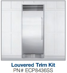 "ECP8436SS Electrolux 84"" Tall Stainless Steel Single Louvered Trim Kit"