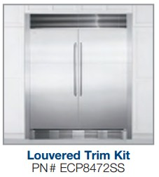 """ECP8472SS Electrolux 84"""" Tall Stainless Steel Double Louvered Trim Kit"""