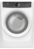 "EFME427UIW Electrolux 27"" Perfect Steam 8.0 Cu. Ft. Electric Front-Load Dryer with 7 Cycles and Luxury Quiet Sound System - Island White"