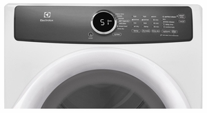 """EFME427UIW Electrolux 27"""" Perfect Steam 8.0 Cu. Ft. Electric Front-Load Dryer with 7 Cycles and Luxury Quiet Sound System - Island White"""