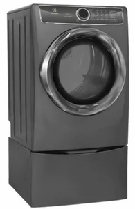 "EFME627UTT Electrolux 27"" 8.0 Cu. Ft. Front-Load Electric Dryer with 9 Cycles and Perfect Steam Wrinkle Release Option - Titanium"