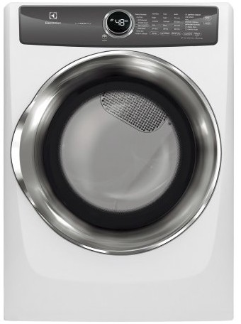 "EFMG527UIW Electrolux 27"" 8.0 Cu. Ft. Gas Front-Load Dryer with 8 Cycles and Perfect Steam Wrinkle Release Option - Island White"