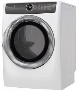 """EFMG527UIW Electrolux 27"""" 8.0 Cu. Ft. Gas Front-Load Dryer with 8 Cycles and Perfect Steam Wrinkle Release Option - Island White"""