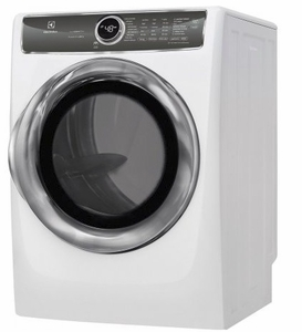 """EFMG627UIW Electrolux 27"""" 8.0 Cu. Ft. Gas Front-Load Dryer with 9 Cycles and Perfect Steam Wrinkle Release Option - Island White"""