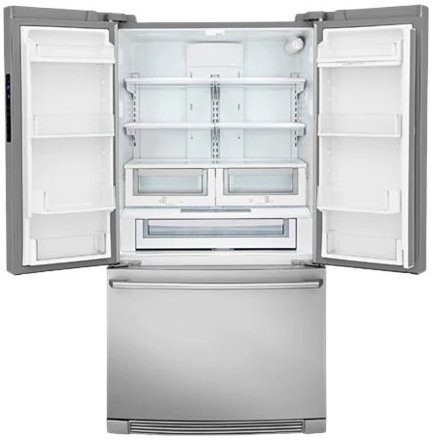 "EI23BC32SS Electrolux 36"" 22.4 cu. ft. Capacity Counter Depth French Door Refrigerator with IQ-Touch Controls and Self-Closing Doors - Stainless Steel"