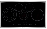 "EI36EC45KS Electrolux 36"" Electric Cooktop with Glide 2 Set Control Panel and Easy to Clean Cooktop Surface - Black with Stainless Trim"