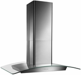 """EI5936SS Broan 36"""" Curved Glass Canopy Island Hood with 500 CFM Internal Blower and and HeatSentry - Stainless Steel"""