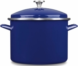 EOS10628CBL Cuisinart 10 Qt Chef's Classic Enamel Stockpot with Cover - Blue