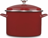 EOS10628R Cuisinart 10 Qt  Chefs Classic Enamel Stockpot  wtih Cover - Red