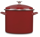 EOS16630R Cuisinart 16 Qt  Enamel Stockpot with Cover - Red