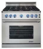 "ER36GISCHLP Dacor Renaissance 36"" All Gas Range Island Option - Liquid Propane - Stainless Steel"