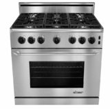"""ER36GSCHNGH Dacor Renaissance 36"""" All Gas Range - Natural Gas - High Altititude - Stainless Steel - CLEARANCE OPEN BOX"""