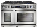 """ER48DSCHNG Dacor Renaissance 48"""" Pro Style Dual Fuel Range - Natural Gas - Stainless Steel with Chrome Trim"""
