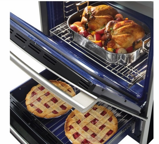 EW30DS75KS Electrolux Wave-Touch Slide-in Dual-Fuel Convection Range with Min-2-ax Gas Burner - Stainless Steel