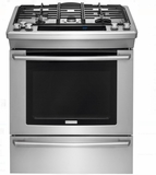 "EW30DS80RS Electrolux 30"" Dual-Fuel Built-In Range with Wave-Touch Controls and 5 Sealed Burners - Stainless Steel"