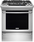 "EW30GS80RS Electrolux 30"" Slide-In Gas Range with Self-Clean Porcelain Racks - Stainless Steel"
