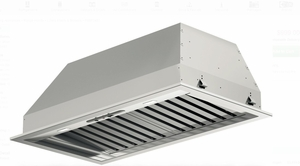 "F6BP34S1 34"" Fulgor Milano 600 Series Hood Insert with 600 CFM Blower and LED Lighting - Stainless Steel"