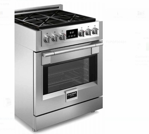 """F6PDF304S1 30"""" Fulgor Milano Sofia 600 Series Dual Fuel Freestanding Range with 4 Sealed Burners and Dual-Fan Convection - Stainless Steel"""