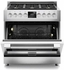 "F6PDF366S1 Fulgor Milano Sofia 600 Series 36"" Dual Fuel Freestanding Range with 6 Sealed Burners and Dual-Fan Convection - Stainless Steel"