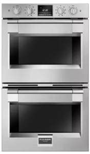 "F6PDP30S1 Fulgor Milano 30"" 8.2 cu. ft. Double Electric Wall Oven with Extra Wide Viewing Area and Soft-Closing Door - Stainless Steel"