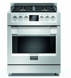 "F6PGR304S1 30"" Fulgor Milano Sofia 600 Series Natural Gas Freestanding Range with 4 Sealed Burners and Dual-Fan Convection Oven - Stainless Steel"
