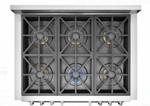 """F6PGR366AS1 36"""" Fulgor Milano Sofia 600 Series Natural Gas Freestanding Range with 6 Sealed Burners and Dual-Fan Convection - Stainless Steel - CLEARANCE"""