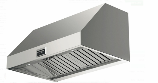 "F6PH36S1 36"" Fulgor Milano 600 Series Professional Wall Mount Hood with 600 CFM Blower and LED Lighting - Stainless Steel"